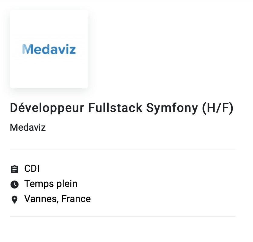 exemple offre emploi développeur full stack